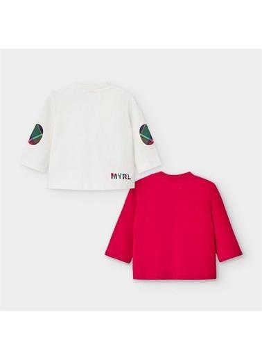 Mayoral Mayoral Yenidoðan Erkek Bebek ıkili SweaT-shirt Set Kırmızı